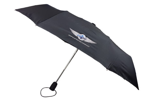 "Morgan Black Telescopic Umbrella with ""Wings"" Logo-0"
