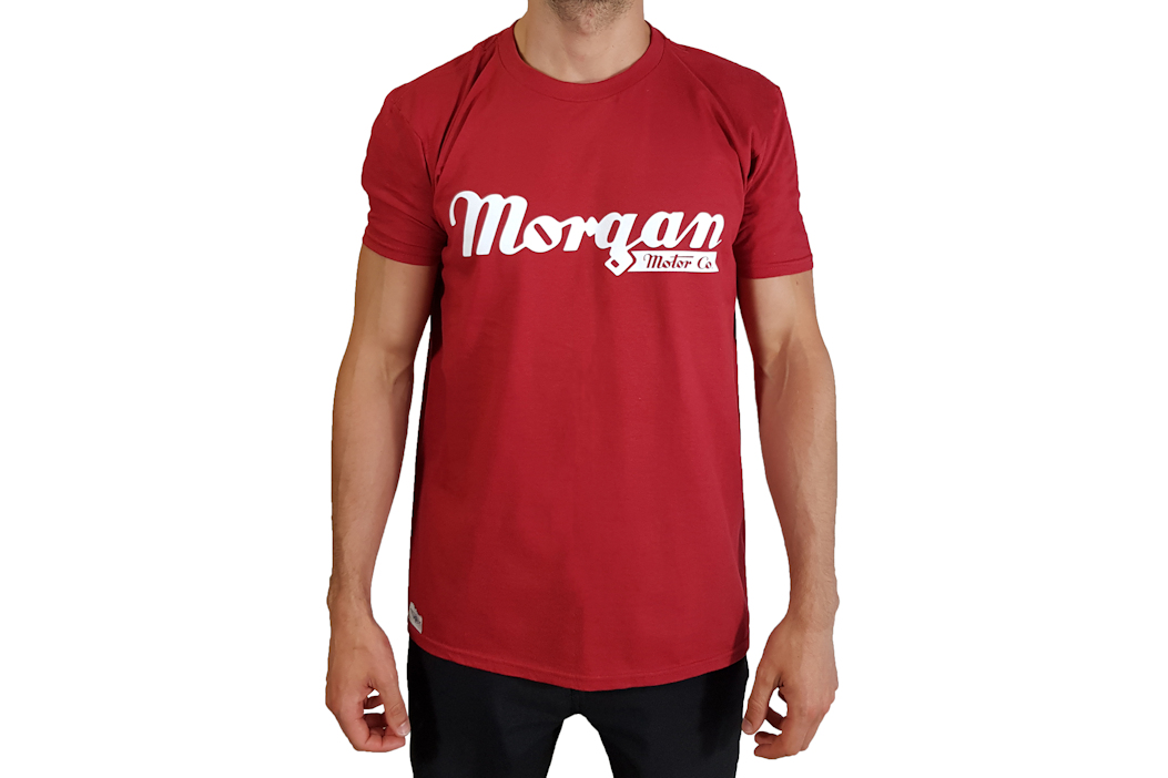 Morgan T-Shirt Red - Front Script Logo-0