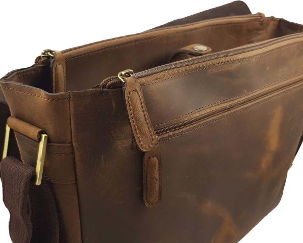 Morgan Messenger Bag - Brown-3857