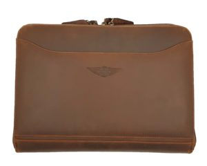 Morgan Double Document Wallet A4 - Brown-0