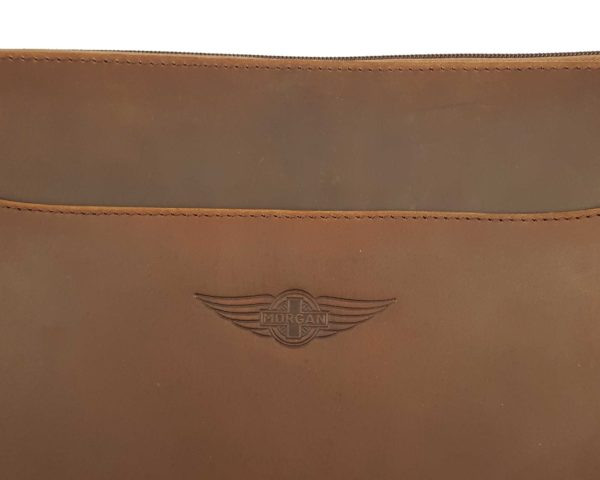 Morgan Double Document Wallet A4 - Brown-3848