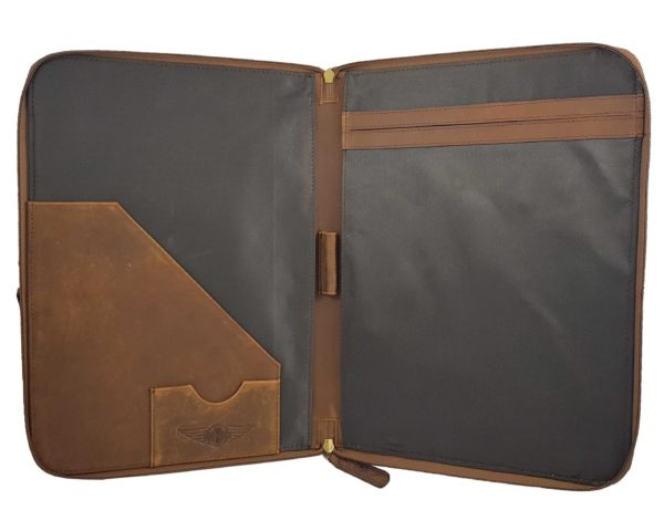 Morgan Double Document Wallet A4 - Brown-3847