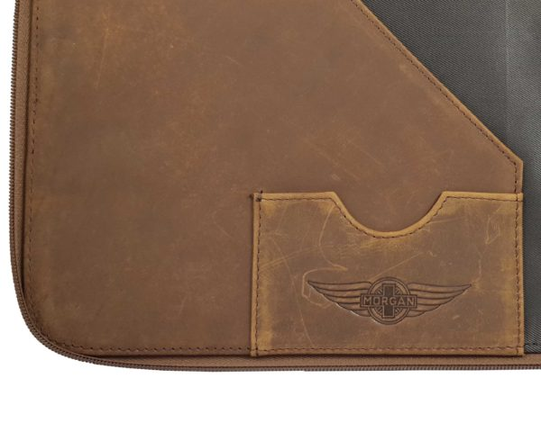 Morgan Double Document Wallet A4 - Brown-3853