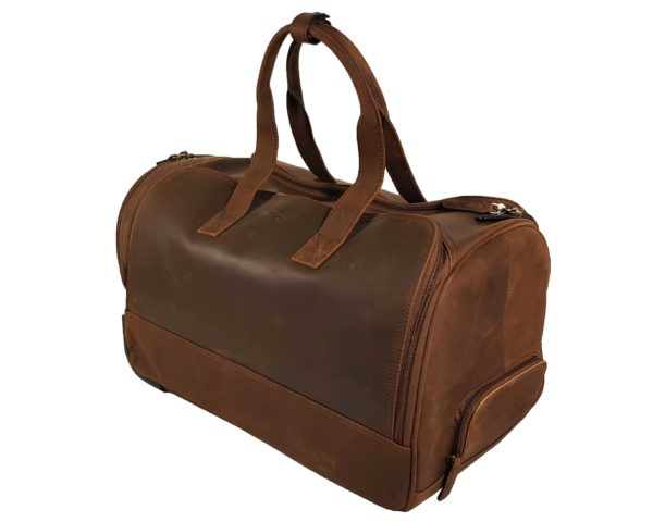 Morgan Weekend Wheelie Travel Case - Brown-3863