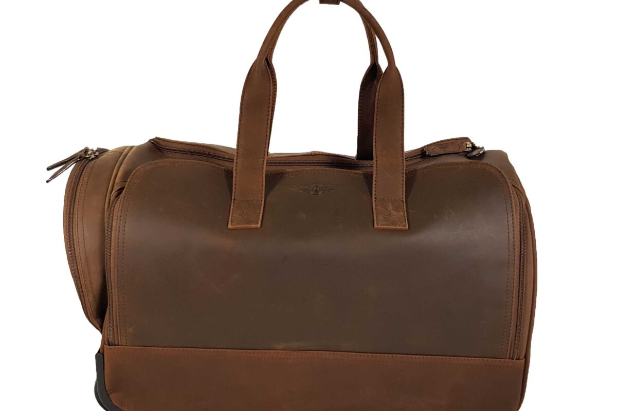 Morgan Weekend Wheelie Travel Case - Brown-0