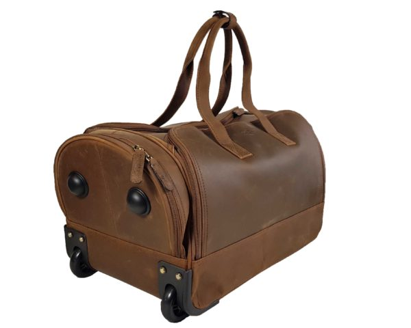 Morgan Weekend Wheelie Travel Case - Brown-3859