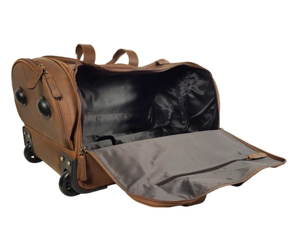 Morgan Weekend Wheelie Travel Case - Brown-3860