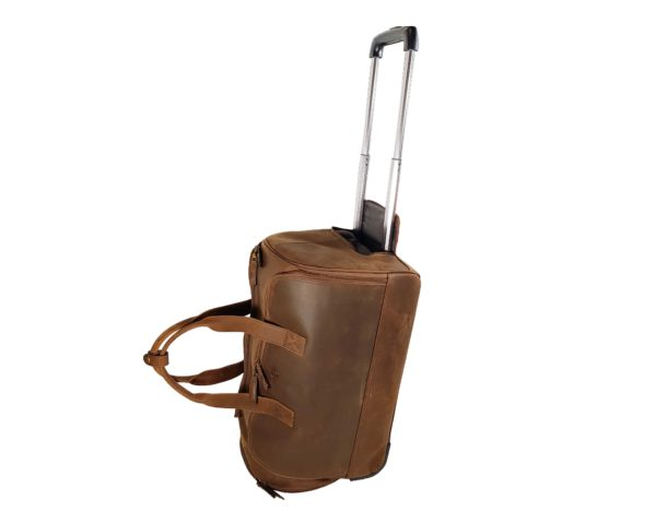 Morgan Weekend Wheelie Travel Case - Brown-3858