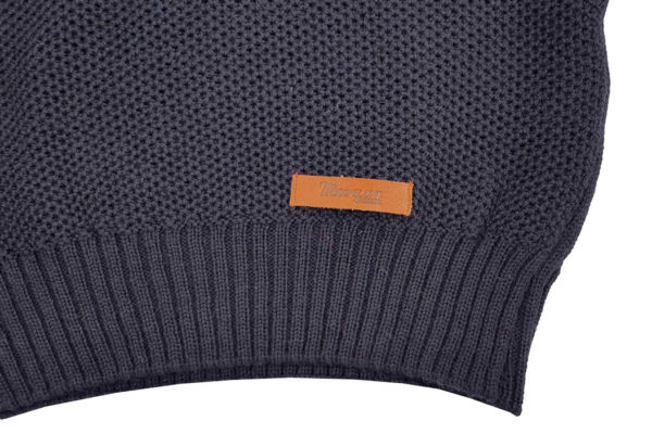 Bailey Zip Neck Jumper - Navy-4005