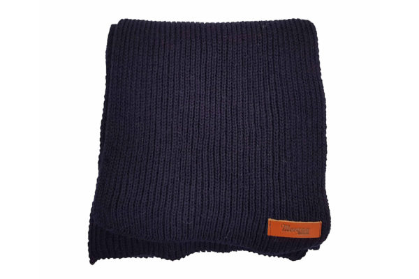 Porter Ribbed Scarf - Navy-4015