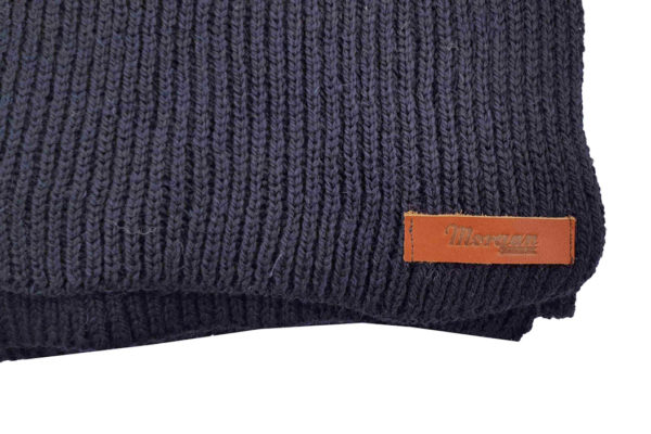 Porter Ribbed Scarf - Navy-4016