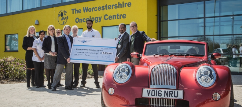 PistonHeads and Morgan raise over £1,000 for Worcester Oncology Centre