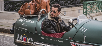 Morgan Stars alongside David Gandy in Aspinal Of London Launch