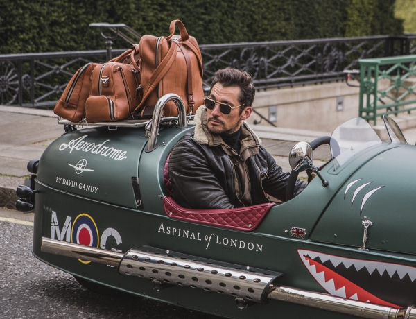 Morgan Stars alongside David Gandy in Aspinal Of London Launch