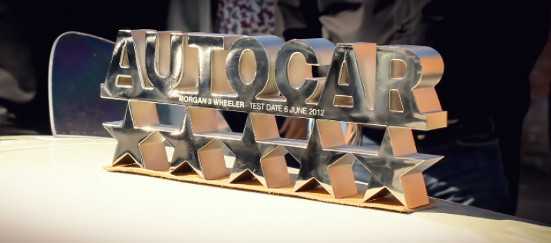 Morgan 3 Wheeler recognised at Autocar Stars event