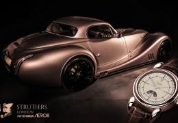 Struthers London for Morgan Aero 8 watch launch